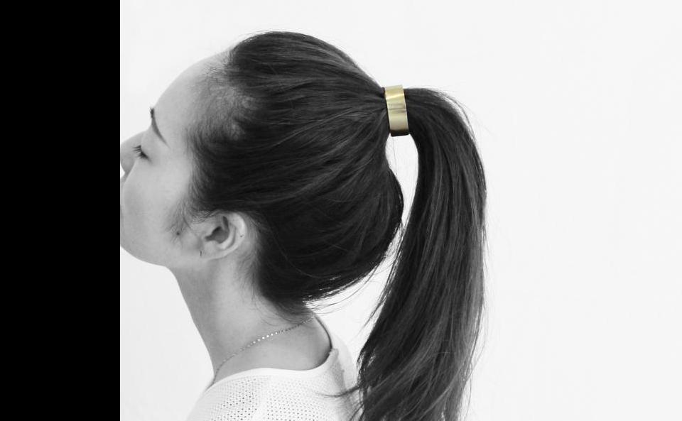 ヘアカフ -niji- 真鍮、シルバー