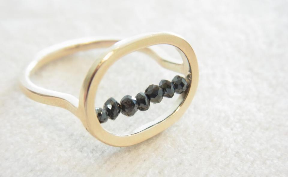 リング  K10 /  ブラックダイヤモンド ¥43,200(税込)